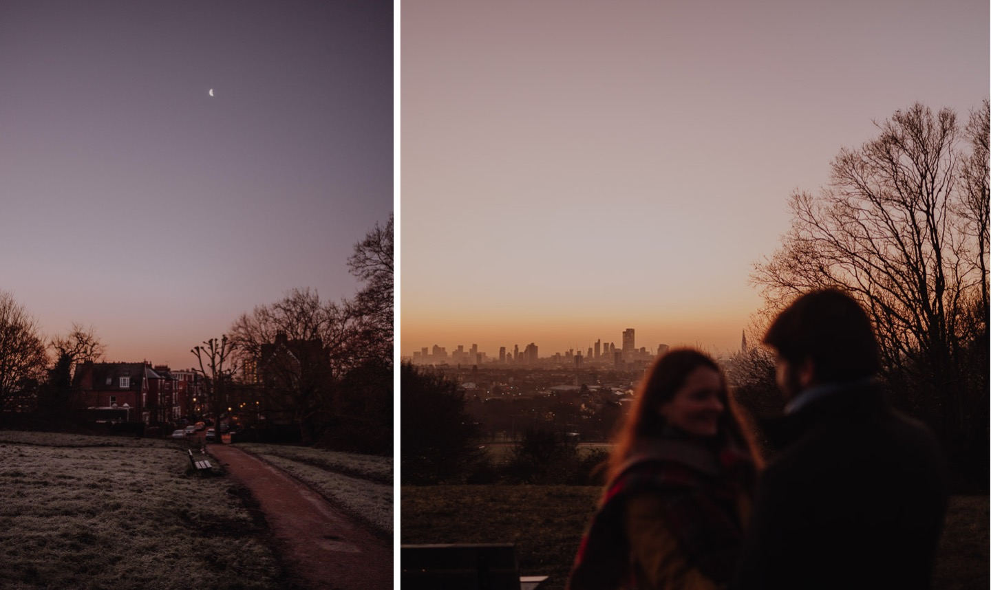 sunrise engagement session in London